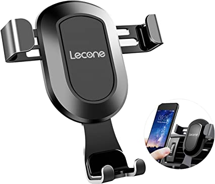 Black Gravity Cell Phone Holder for Car Air Vent Universal Car Phone Mount with Auto Lock Technology Compatible with 4.0 inches to 6.2 inches Cell Phones