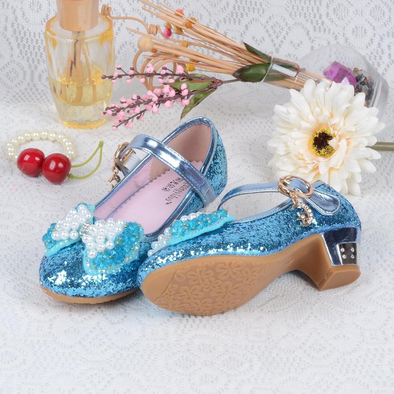 Amazon.com | O&N Kids Girls Mary Jane Wedding Party Shoes Glitter ...