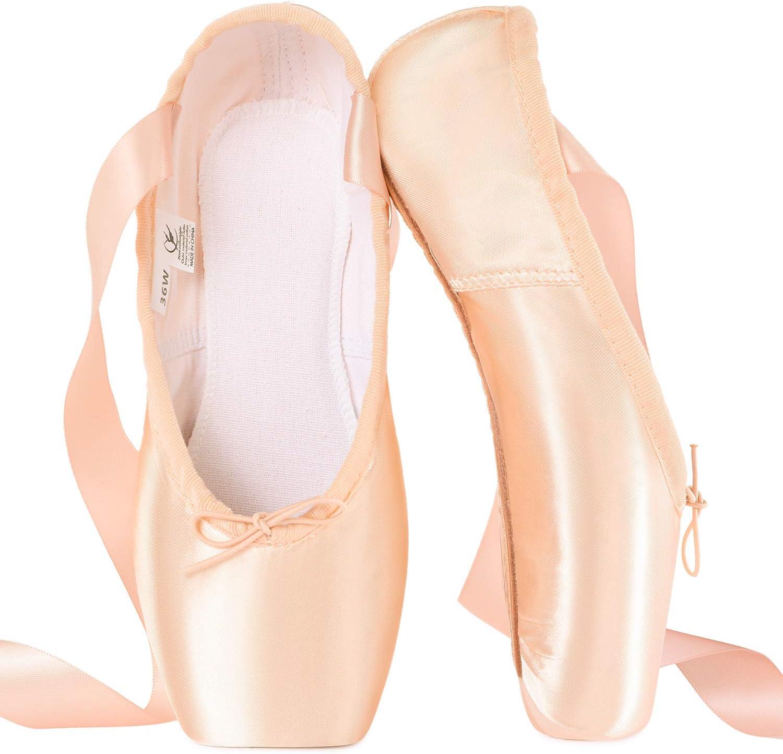 tanzdunsje Zapatillas de Ballet de Punta Zapatillas de Danza Profesionales Rosadas con Cinta Cosida y Almohadillas de Silicona para niñas y Mujeres: Amazon.es: Deportes y aire libre