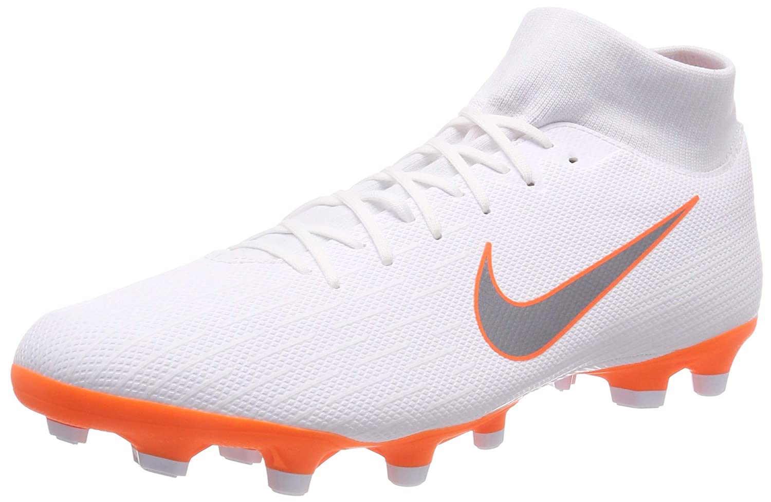 Blanc (Blanc  Orange Blanc  Orange) Nike Mercurial Superfly VI Academy MG, Chaussures de Football Homme 44 EU