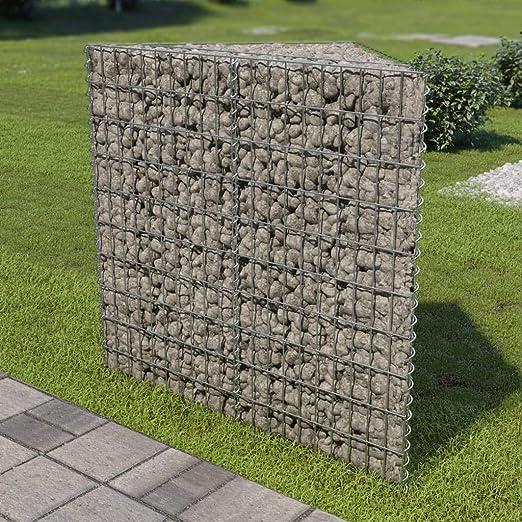Jardinera de gaviones de Acero galvanizado 75x75x100 cmCasa y jardín Jardín Jardinería Macetas y tiestos: Amazon.es: Hogar