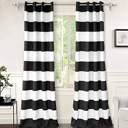Deal of the week: DriftAway Mia Stripe Lined Blackout Thermal Insulated Window Curtain Grommet 2 Layers 2 Panels Each 52 Inch