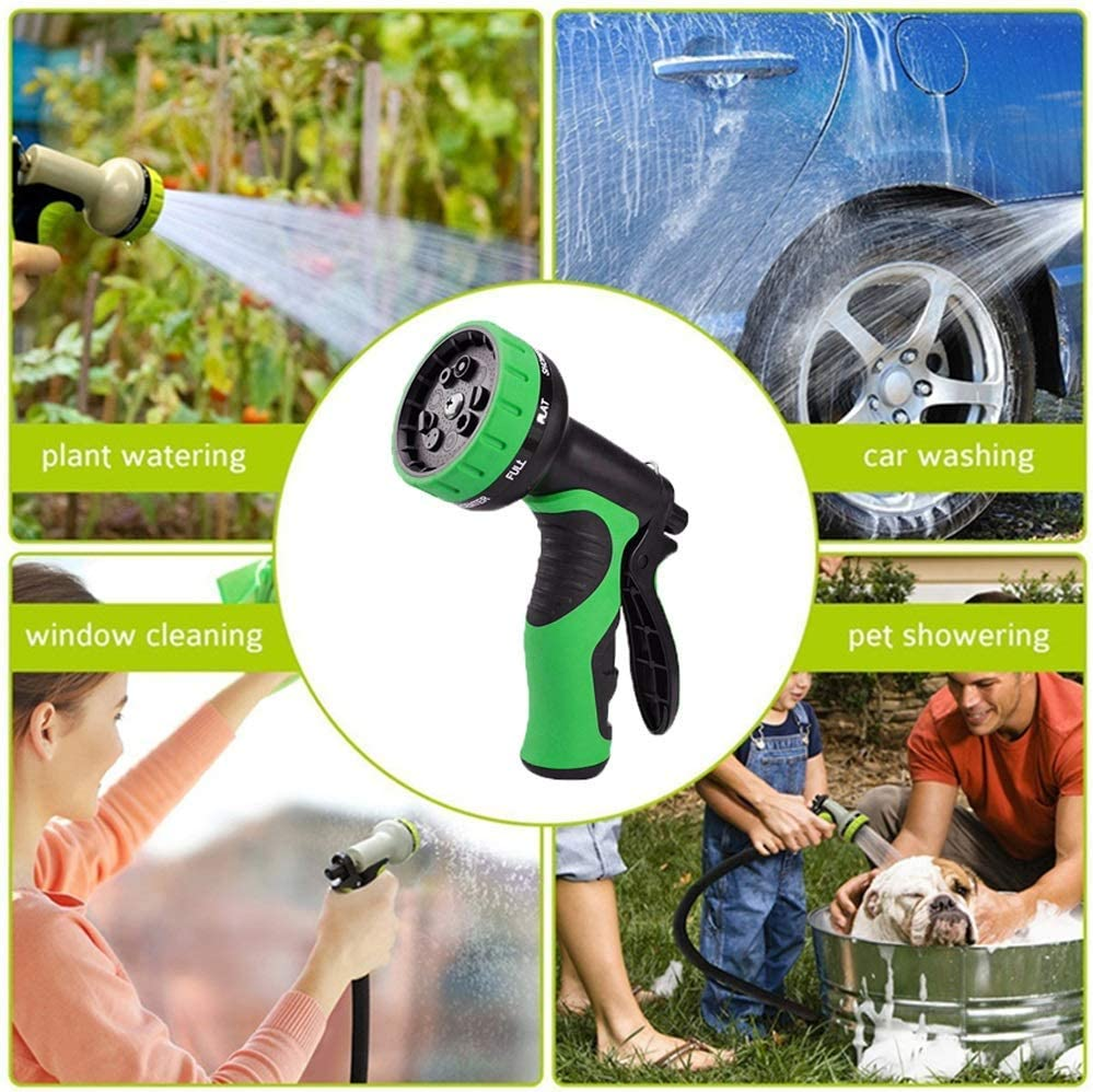 Garden hose, Flexible Hosepipe,Telescopic Watering Hose Retractable 3/4 Hose Wash Hose Gardening Supplies Irrigation Tools, Green Green