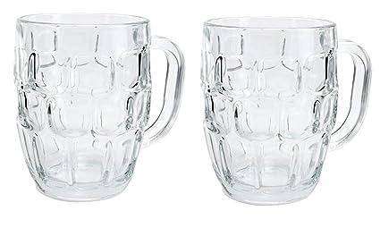 King International Glass Italian Style Jumbo Beer Mug | Set Of 2 Pieces | 500 Ml Glassware & Drinkware at amazon
