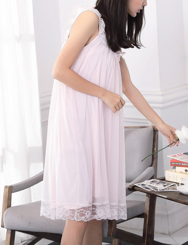 Big Girls Nightgown,Princess Summer Lace Sleeveless Sleep Dress Sleepwear 8 10 12 14