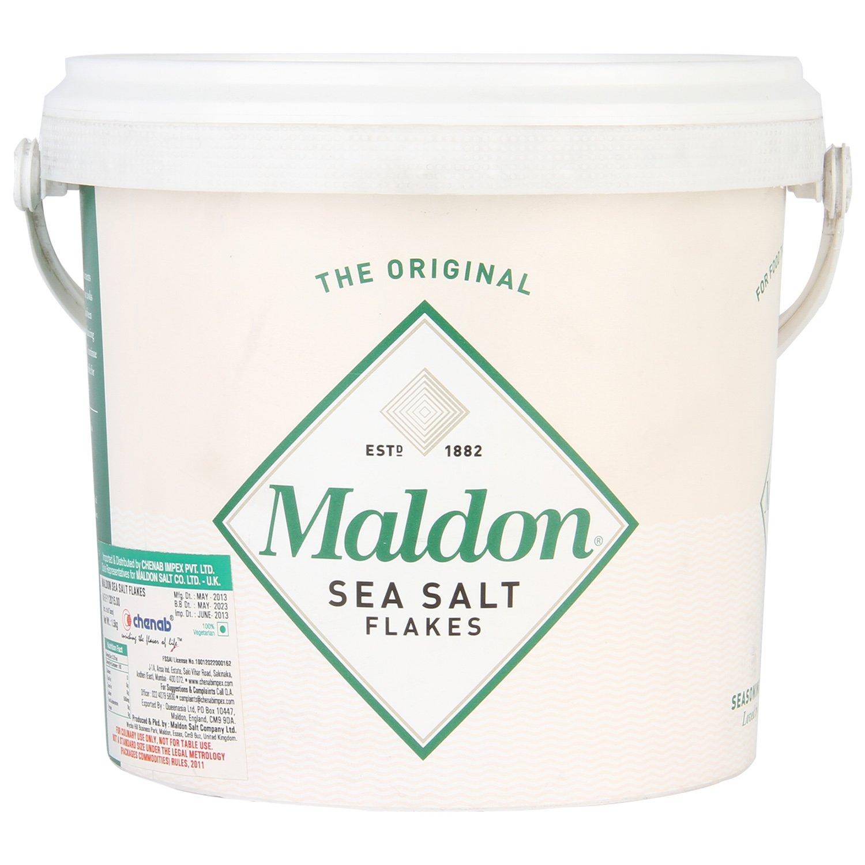 Maldon Sea Salt Flakes 1.5kg/3.3lbs Tub by Salt Traders (Image #2)