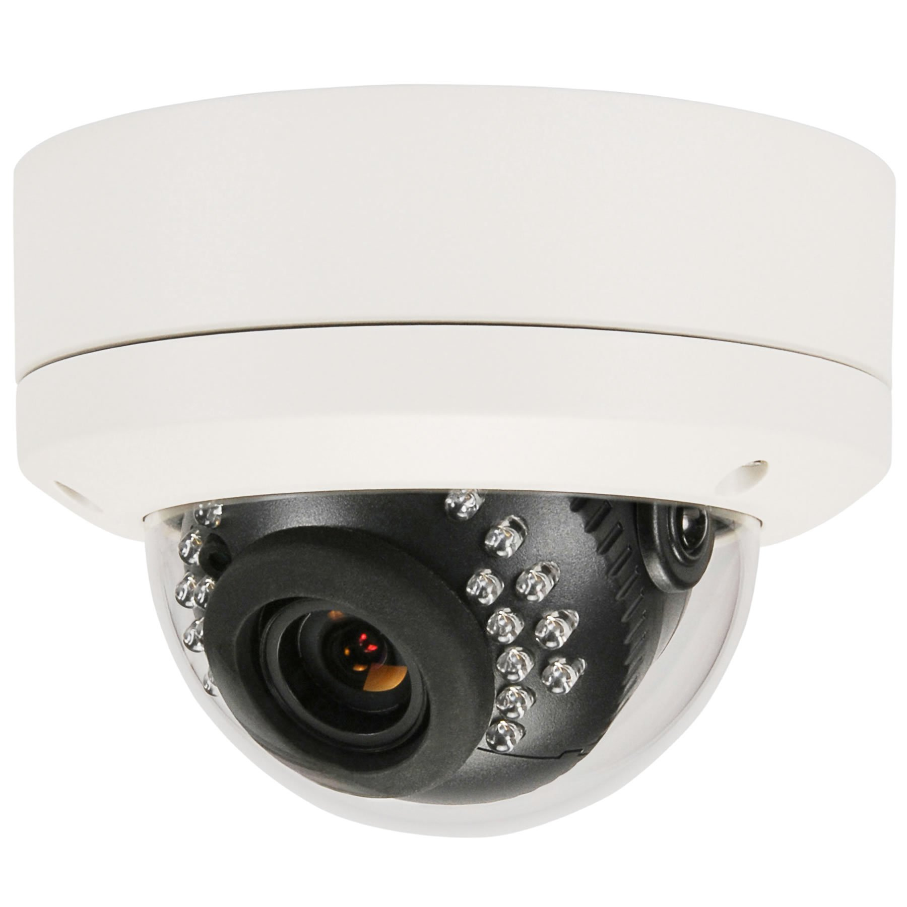 HDView (Business Series 4MP Megapixel HD IP Network Camera H.265 POE WDR Wide Dynamic Range 3.6mm Lens 3-Axis Angle IR Infrared Dome ONVIF, VCA Intelligent Analytics