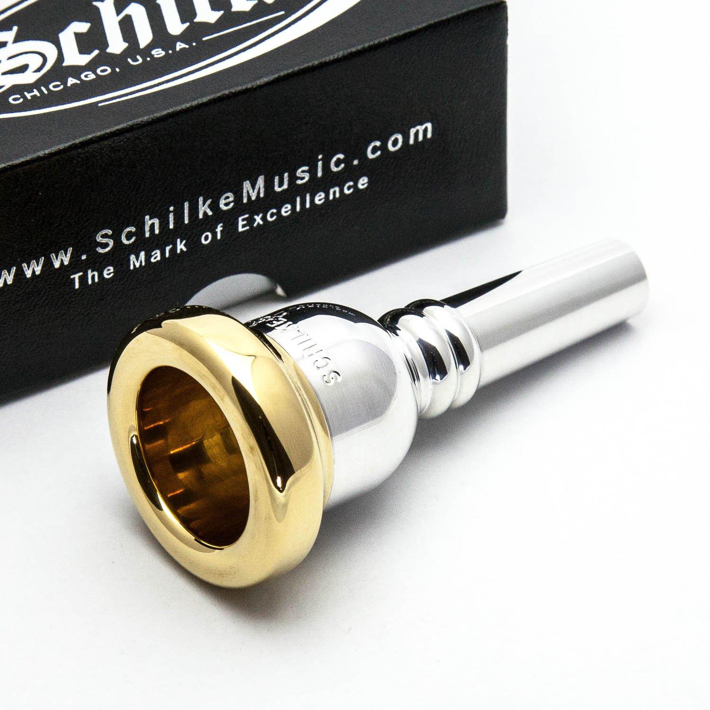 Schilke 24K Gold Rim & Cup Trombone (Euphonium/Baritone) 51D large shank