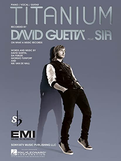 Amazon David Guetta Feat Sia Titanium Pianovocal Sheet