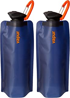 33b6ff7131 Vapur Eclipse BPA Free Durable Foldable Flexible Water Bottle with Carabiner