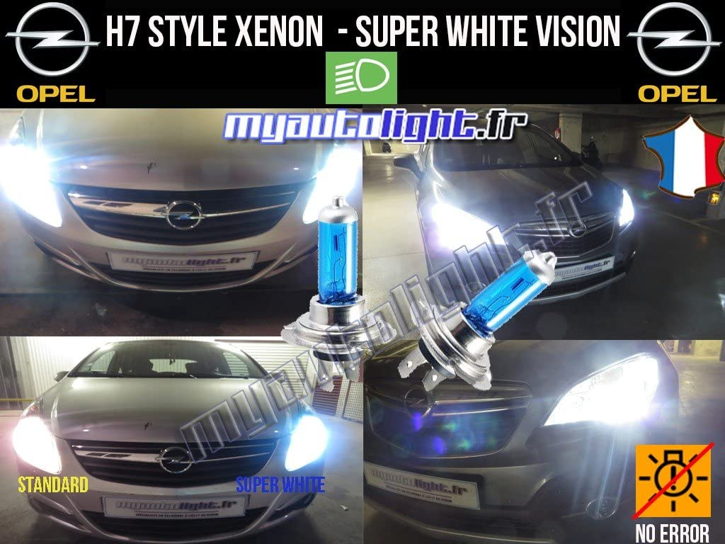 Ampoules H7 Blanc Look X/énon Astra H MyAutoLight