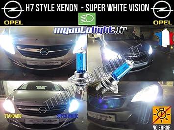Bombillas H7con luz blanca efecto xenón para Opel Astra ...