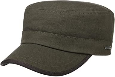 Stetson Gorra Militar Cotton Herringbone Hombre - Made in The EU ...