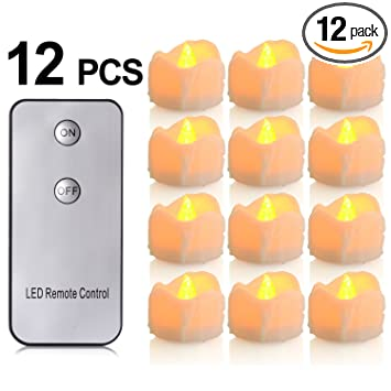 battery candles with remote 12 packs pchero battery operated candle led unscented flickering flameless tea