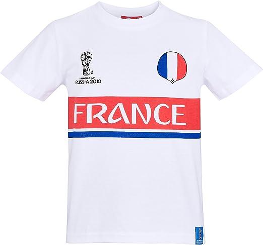 2018 FIFA World Cup Chicos Camiseta Manga Corta - Blanco - 152: Amazon.es: Ropa y accesorios