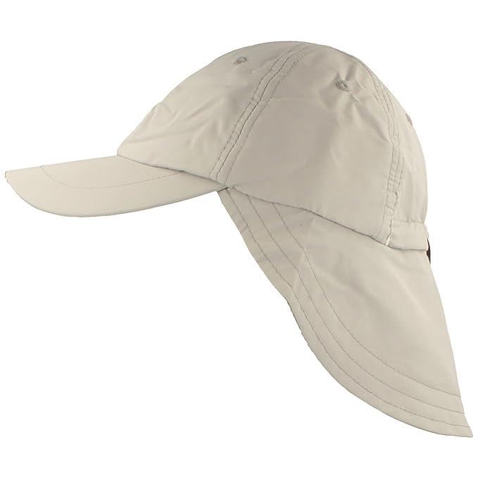 Gorra con protección para la Nuca | Gorra Pesca Unisex | Gorra Safari con protección UV 40+ y Banda absorvente de Sudor - Cordón para Ajustar Medida: ...