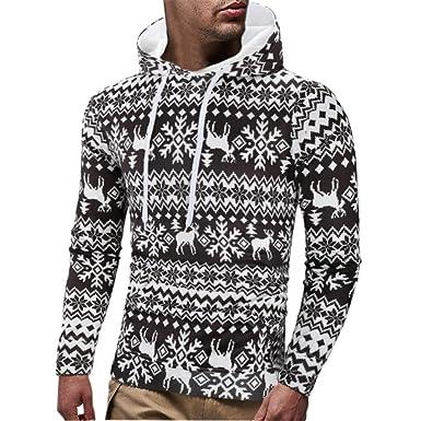 Clearance Sale  M-2XL  ODRDღ Hoodie Männer Sweatshirt Herren Sweater Mantel  Weihnachten Gedruckt Coat Sport Jacke Parka Langarmshirts Tops Pullover  Outwear ... 93404b320c