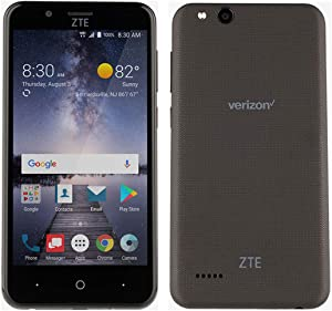 ZTE VZW-Z839PP Blade Vantage 5 16GB 1.1GHz 2GB Prepaid LTE Verizon Smartphone, Black, Carrier Locked to Verizon Prepaid