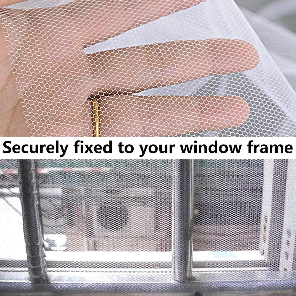 Fenster Insektenschutznetz BESTZY 2 St/ück Insektennetzfenster DIY Insektenschutz Fliegengitter und 2 St/ück Selbstklebende B/änder Window Screen Repair Patch Wei/ß