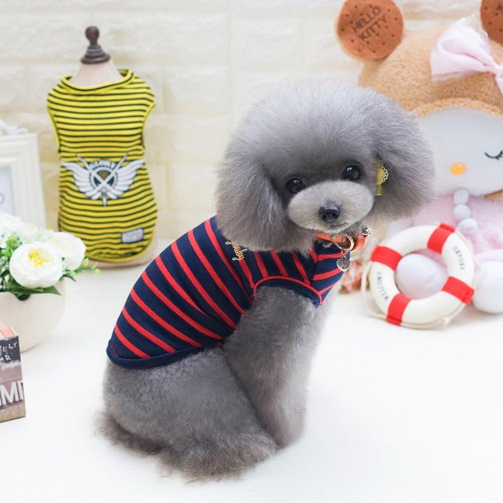 selmai ropa para peque/ñas de mascota Perro Algod/ón Camisetas De Rayas Chaleco Camiseta De Perro Chihuahua Ropa Mascota Disfraz