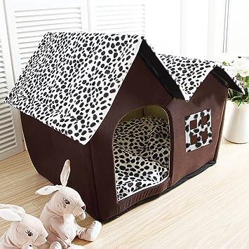 Binghotfireuk Caseta para Perros, Gatos y Gatos de Alta Gama, Doble Techo, Portátil, Cálida, Cómoda: Amazon.es: Productos para mascotas
