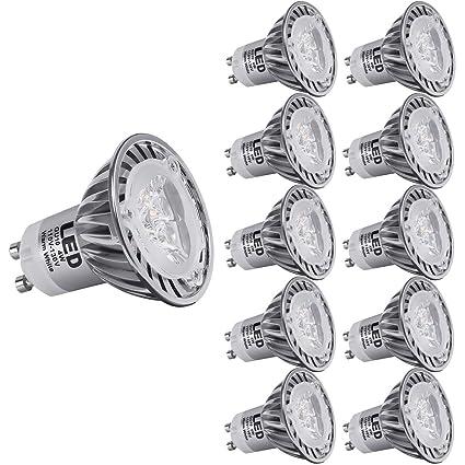 Bombillas SANSUN, regulables, de forma MR16 con base GU10, bombillas de luz LED de 4 W ...