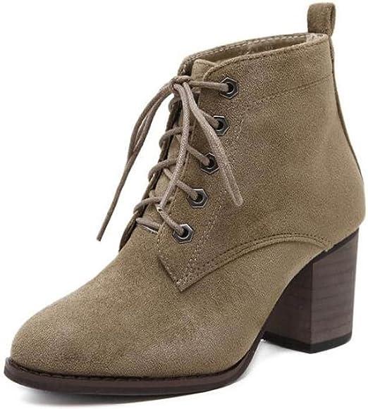 JSHOE Para Mujer Ante Botines De Moda Bota Corta Calzado De
