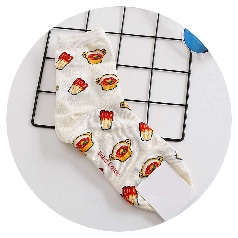 Amazon.com: Harajuku Cake Hamburg Cookies Cute Funny Socks Graffiti Food Kawaii Socks,Beige: Clothing