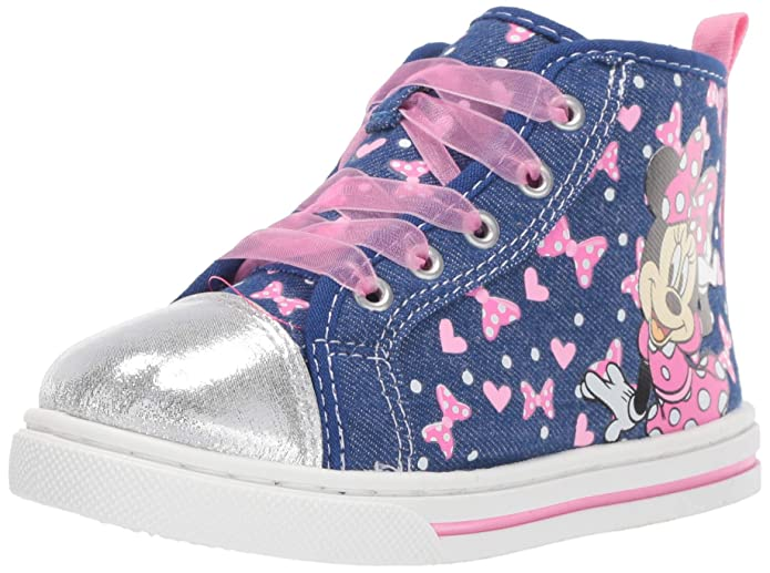 Toddler//Little Kid Josmo Kids Womens Minnie Sheer Lace Sneaker