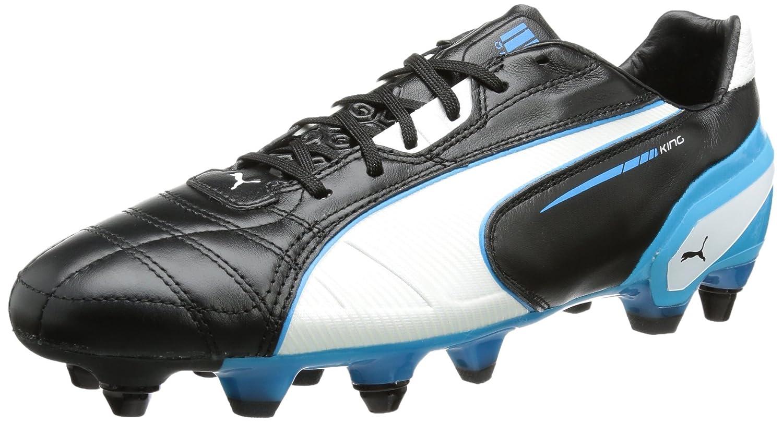 Puma King Mixed Sg, Chaussures de football homme - Noir (Black/White/Fluo Blue 06), 40.5 EU