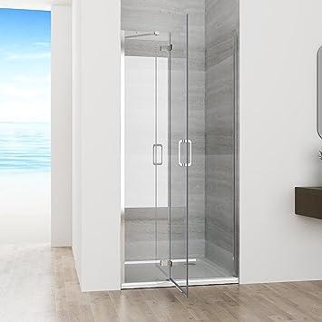 100 X 195 cm Mampara de ducha nichos de puerta puerta bisagra puerta de ducha Ducha Pared Nano Cristal: Amazon.es: Bricolaje y herramientas