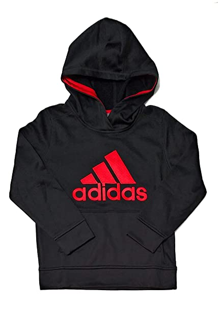 : adidas Youth Boys Pullover Fleece Lined Hoodie