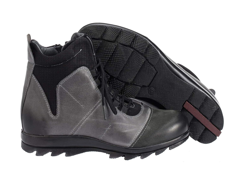 Cipo & Baxx Herren Schuhe Schnürschuhe Halbstiefel High Stiefel CS118 Smoked Anthra