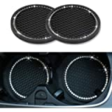 SUNACCL Universal Vehicle Bling Travel Auto Cup Holder Insert Coasters,2.75 Inch Crystal Rhinestone Car Interior…