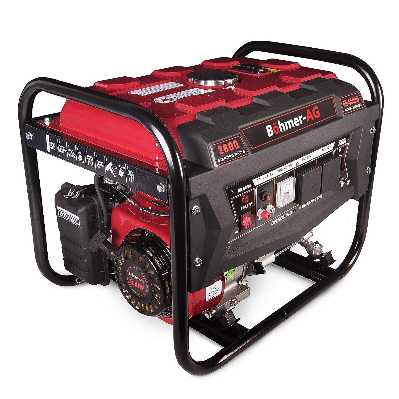 Bohmer Ag Generator 6500w 8hp Petrol 2 8kva 4 Stroke Low Noise
