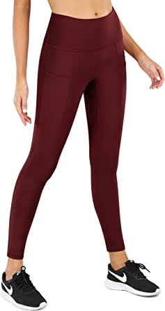 High Waist Yoga Pants with Pockets for Women Capris Workout Leggings Non See Through Butt Lifting Tummy Control Sports Pants