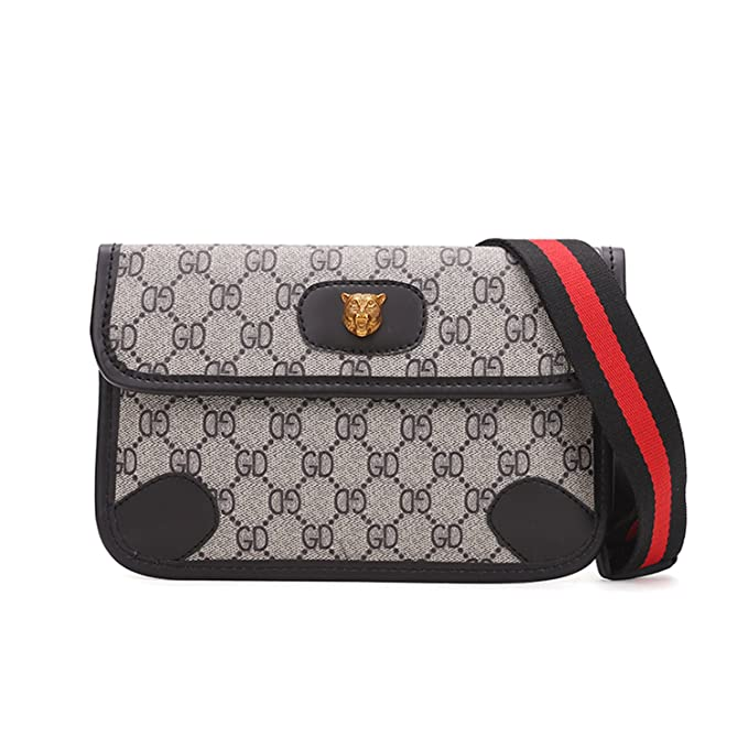 14e080614d5 Womens Fashion Mini Waist Bag Fanny Packs Crossbody bags Cell Phone Pouch  Wallet (BLACK)