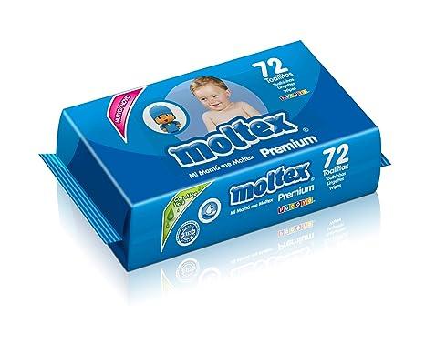 Moltex Premium Bolsita de Toallitas Húmedas para Bebé - 72 Toallitas
