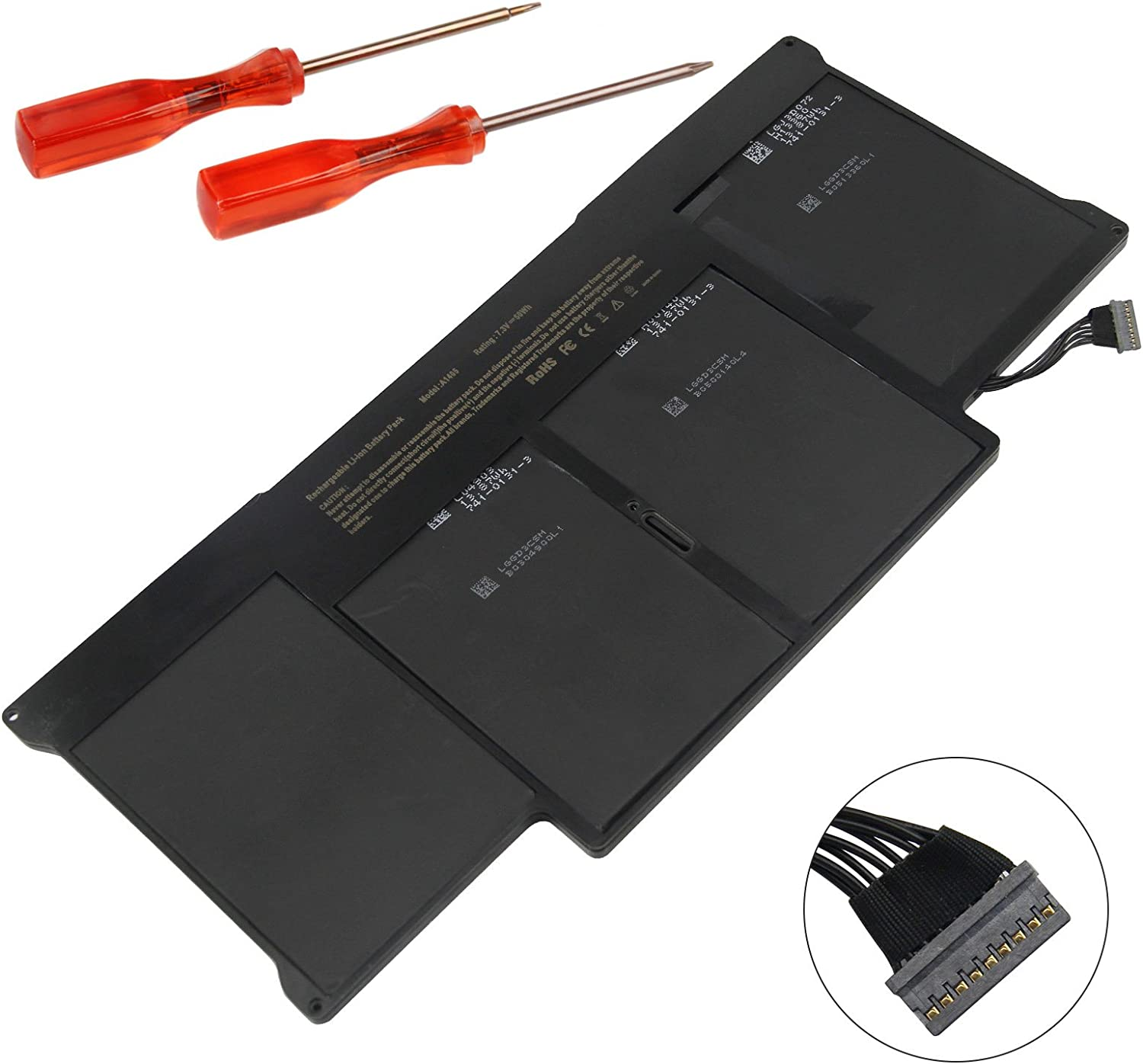 ASUNCELL Notebook Battery for MacBookAir 13 inch A1369 A1377 A1466 MC503LL//A MC965LL//A A1405 A1496 661-5731 Late 2010 Mid 2011 2012 Mid 2013 Early 2014 2015