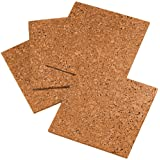 "Quartet Cork Tiles, Cork Board, 12"" x 12"", Corkboard, Wall Bulletin Boards, Natural, 4 Pack (102)"