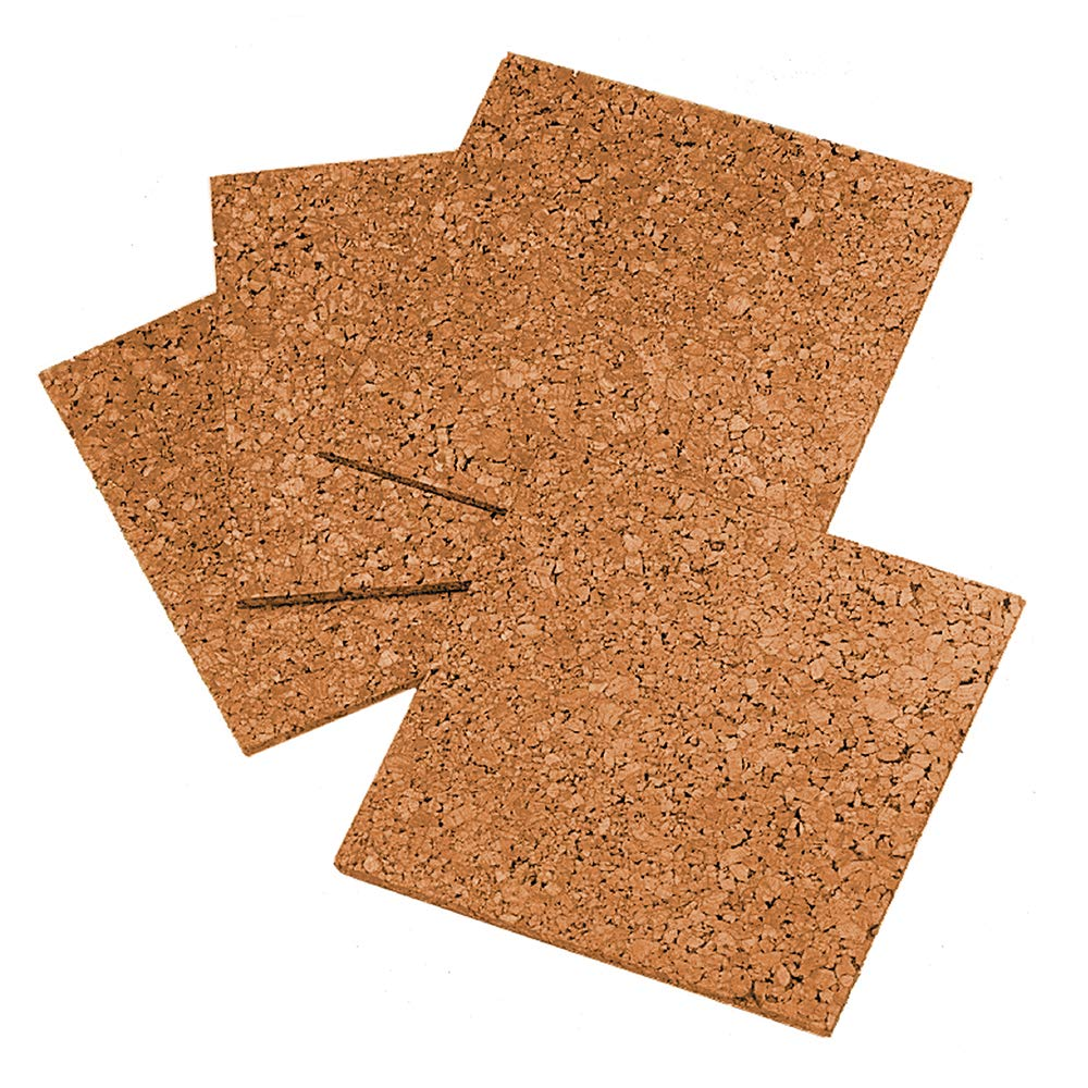 Quartet Cork Tiles, 12 x 12, Cork Board, Bulletin Board, Mini Wall, 4 Pack (102) 12 x 12