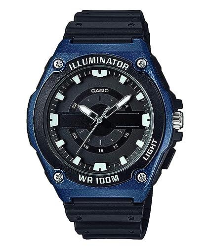 Casio Reloj Analógico para Hombre de Cuarzo con Correa en Resina MWC-100H-2AVEF: Amazon.es: Relojes