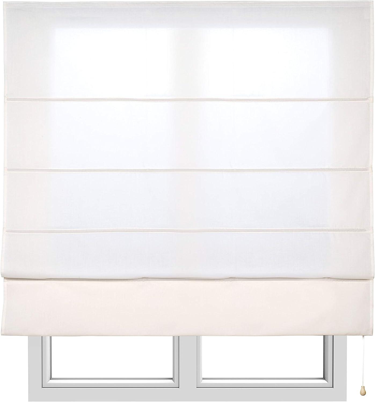 Estores Basic, Stor plegable con varillas, Crudo, 150x175cm