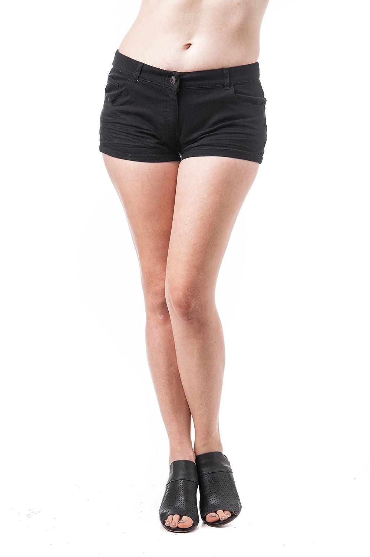 Pantalones Cortos de Tiro bajo con puños sólidos