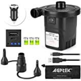 Rechargeable Air Pump, AGPTEK Electric Air Pump Quick-Fill Inflator & Deflator with 3 Nozzles, Lightweight & Portable…