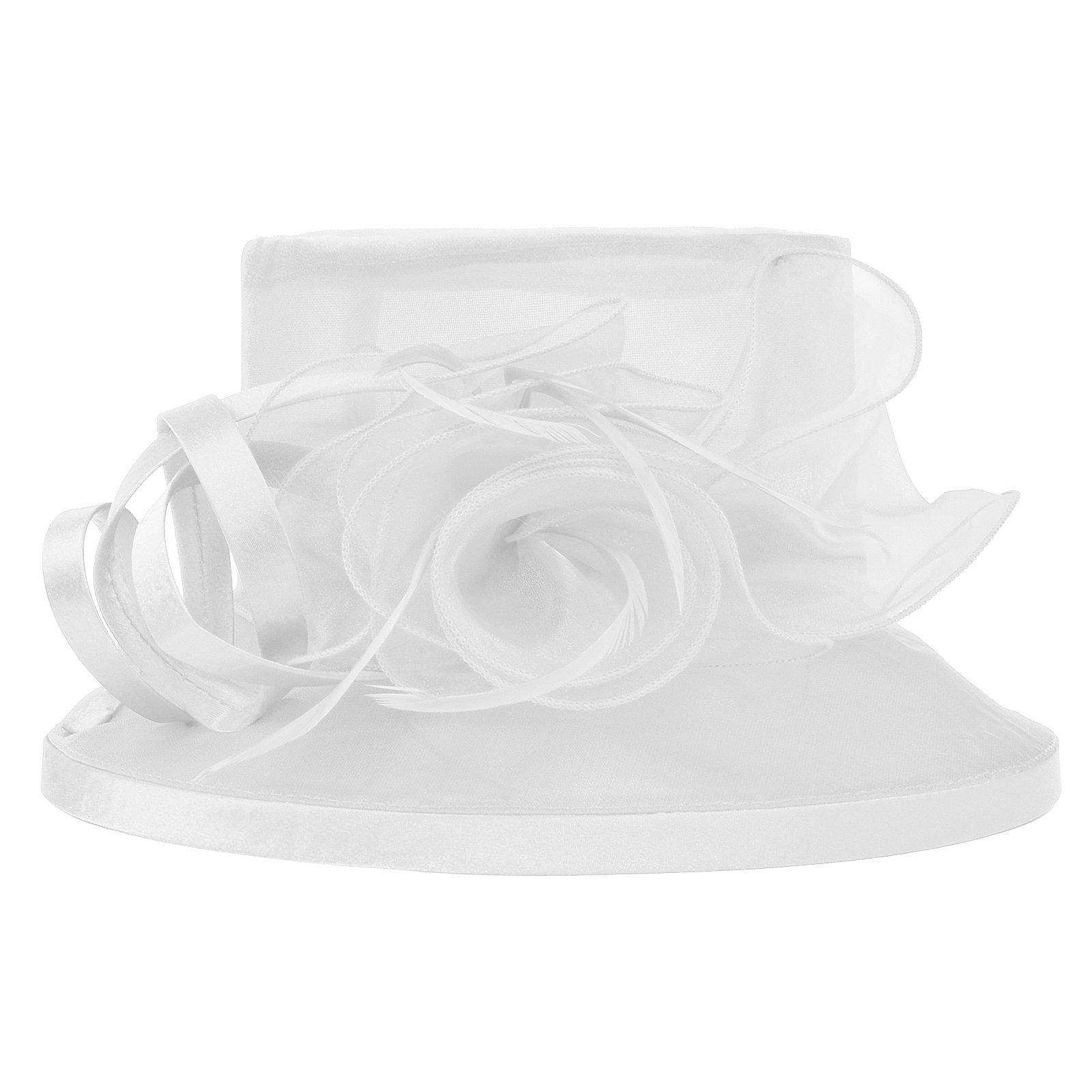 Original One Women's Kentucky Derby Tea Part Dress Church Fascinators Fancy Hats (White) M by Original One (Image #4)