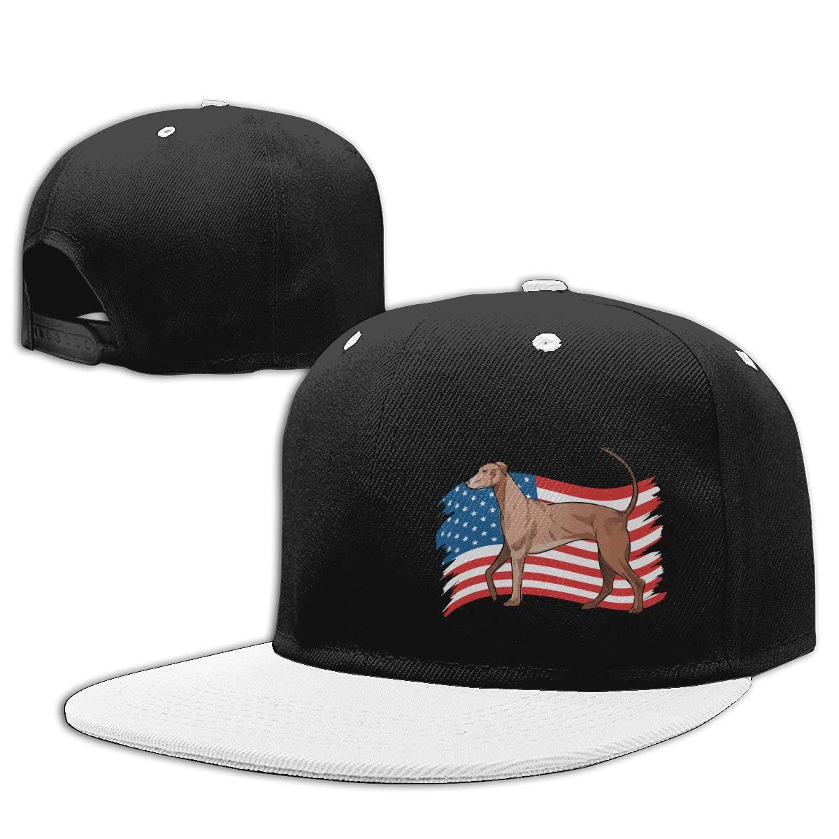 NMG-01 Women Men Plain Cap Redbone Coonhound Dog USA Flag Adults Hip-Hop Baseball Caps