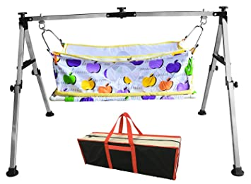 multipro indian style baby cradle and swing frame ghodiyu hammock for born baby stainless steel buy multipro indian style baby cradle and swing frame ghodiyu      rh   amazon in