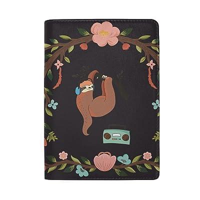 Monkey Star Genuine Leather Passport Holder Wallet Case Cover for Men Women