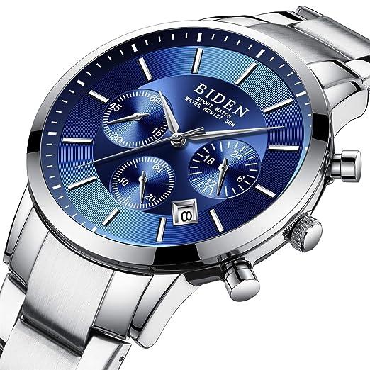 Reloj,Relojes Hombre, Reloj analógico digital Moda deportiva multifunción a prueba de agua fecha
